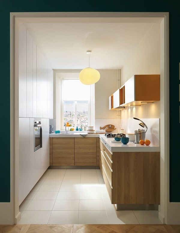 Mẫu tủ bếp thông minh cho nhà bếp chật số 4